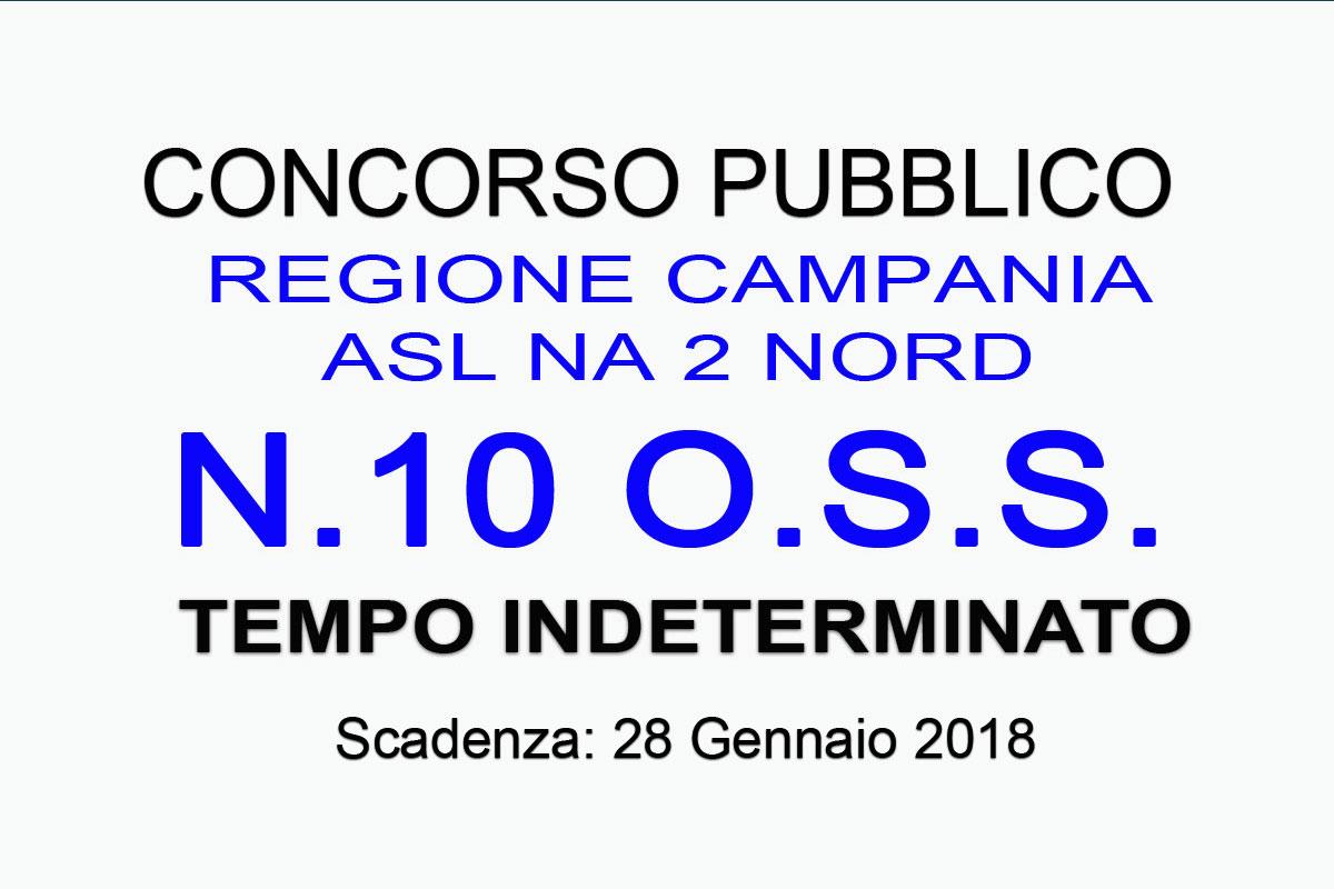 REGIONE CAMPANIA – ASL NA 2 NORD pubblicato CONCORSO PUBBLICO per 10 OPERATORI SOCIO SANITARI