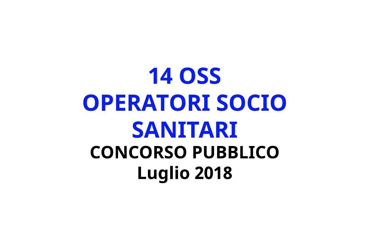 14 OSS CONCORSO PUBBLICO LUGLIO 2018 MANTOVA