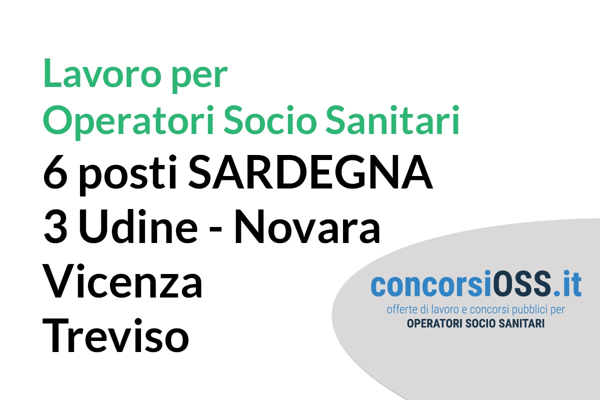 Lavoro OSS Sardegna e altre regioni