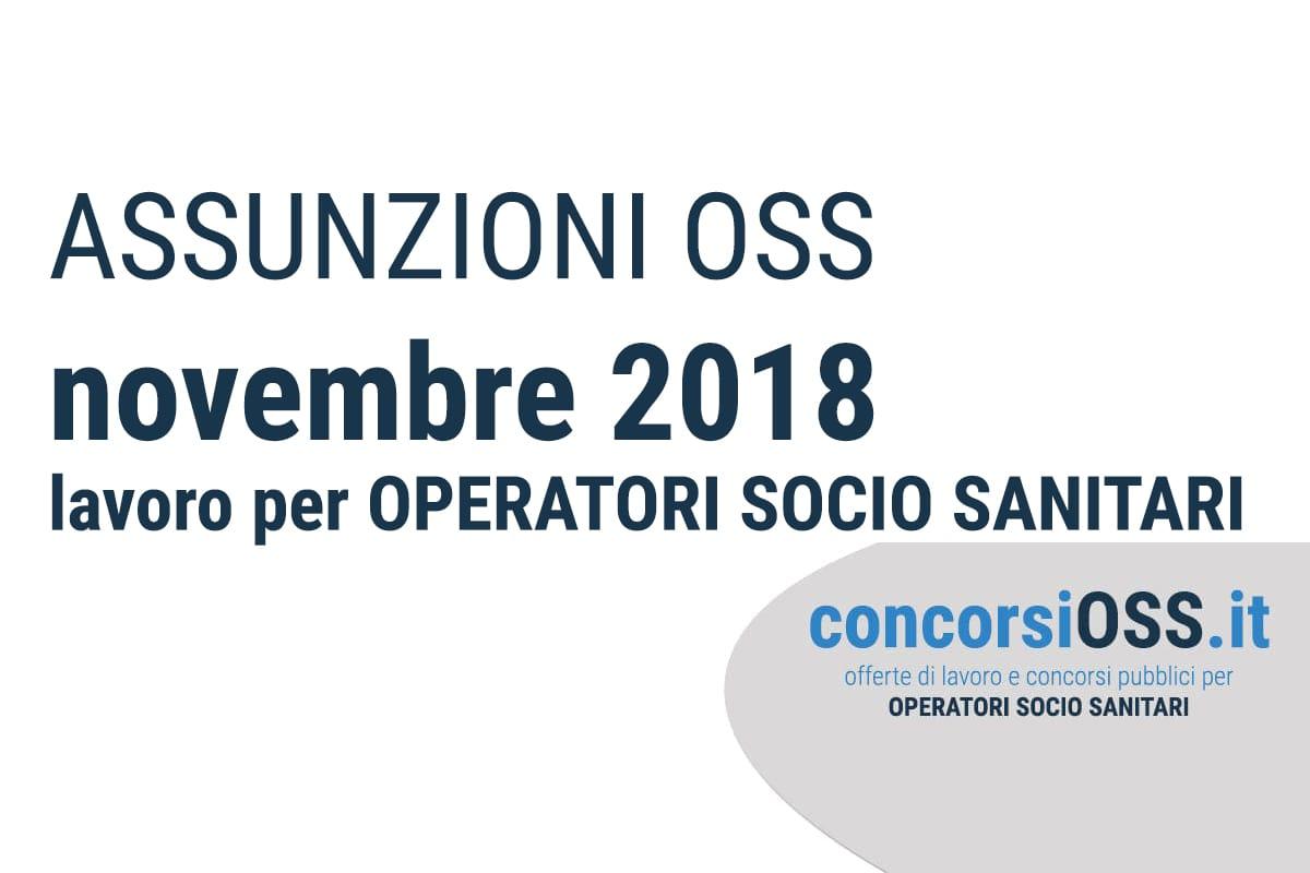 Assunzioni OSS 2018 Novembre