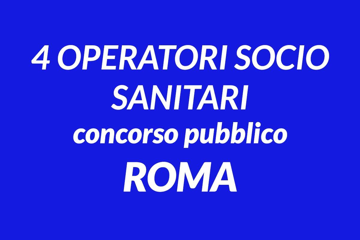 4 Operatori Socio Sanitari concorso IRAS Roma Capitale