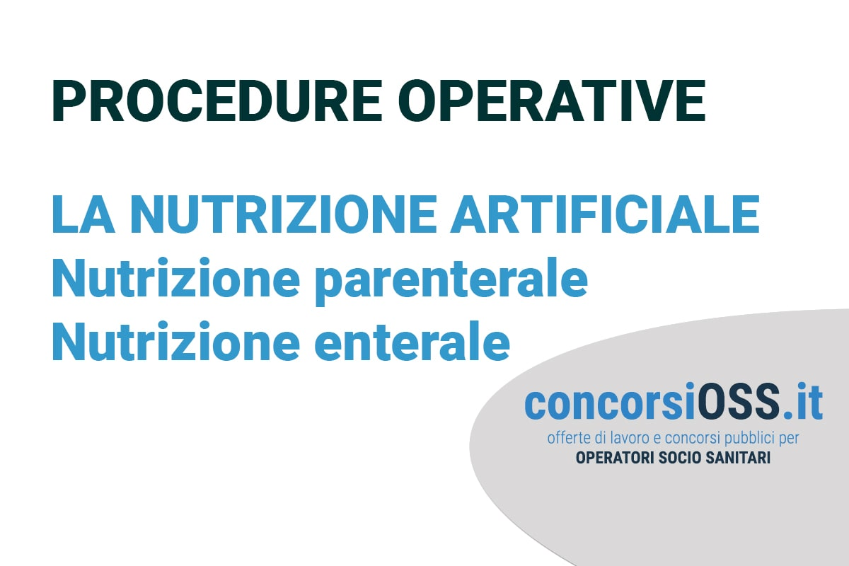 Procedure OSS: la nutrizione artificiale