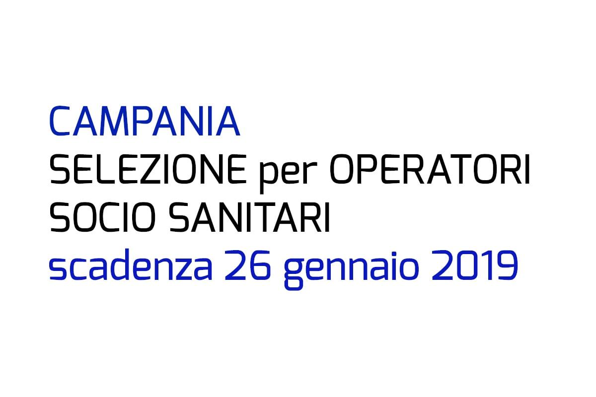 Selezione per OSS Campania 2019