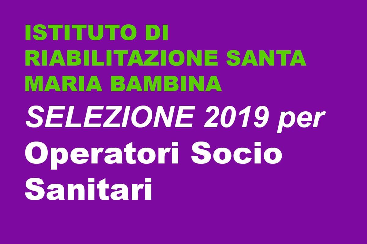 Selezioni Operatori Socio Sanitari ORISTANO 2019