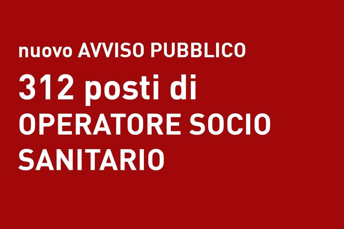 312 posti di OSS Avviso pubblico VENETO