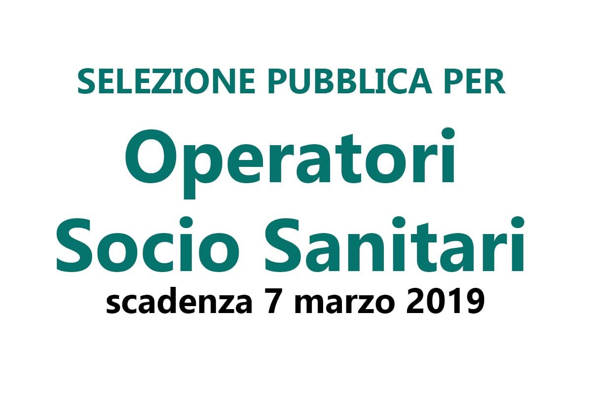 Selezione pubblica per Operatori Socio Sanitari FEBBRAIO 2019