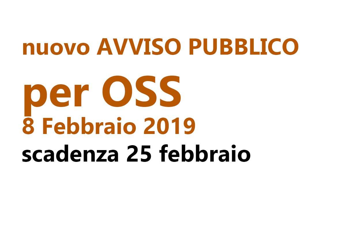 nuovo AVVISO PUBBLICO per OSS 8 Febbraio 2019