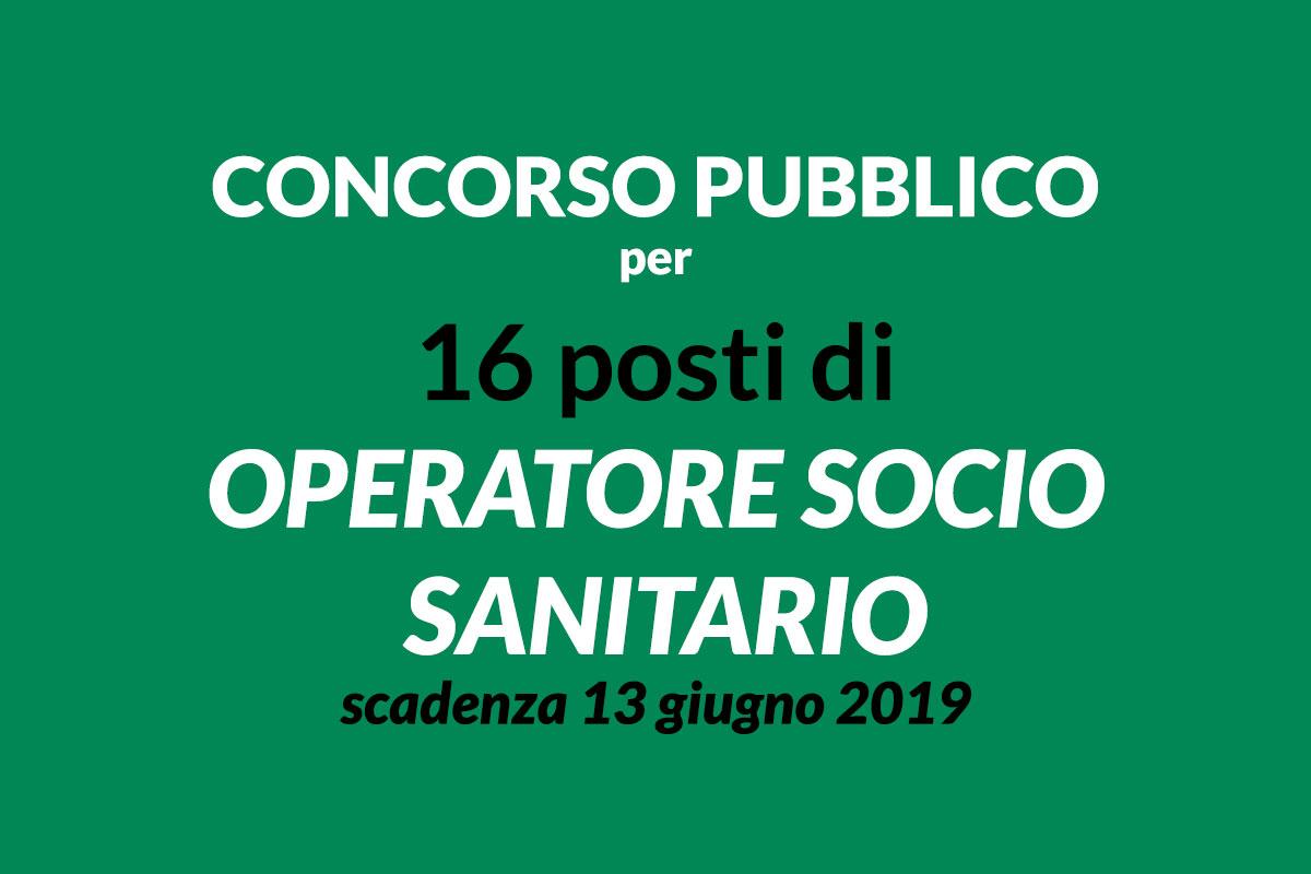 16 OSS concorso pubblico MAGGIO 2019 Fidenza