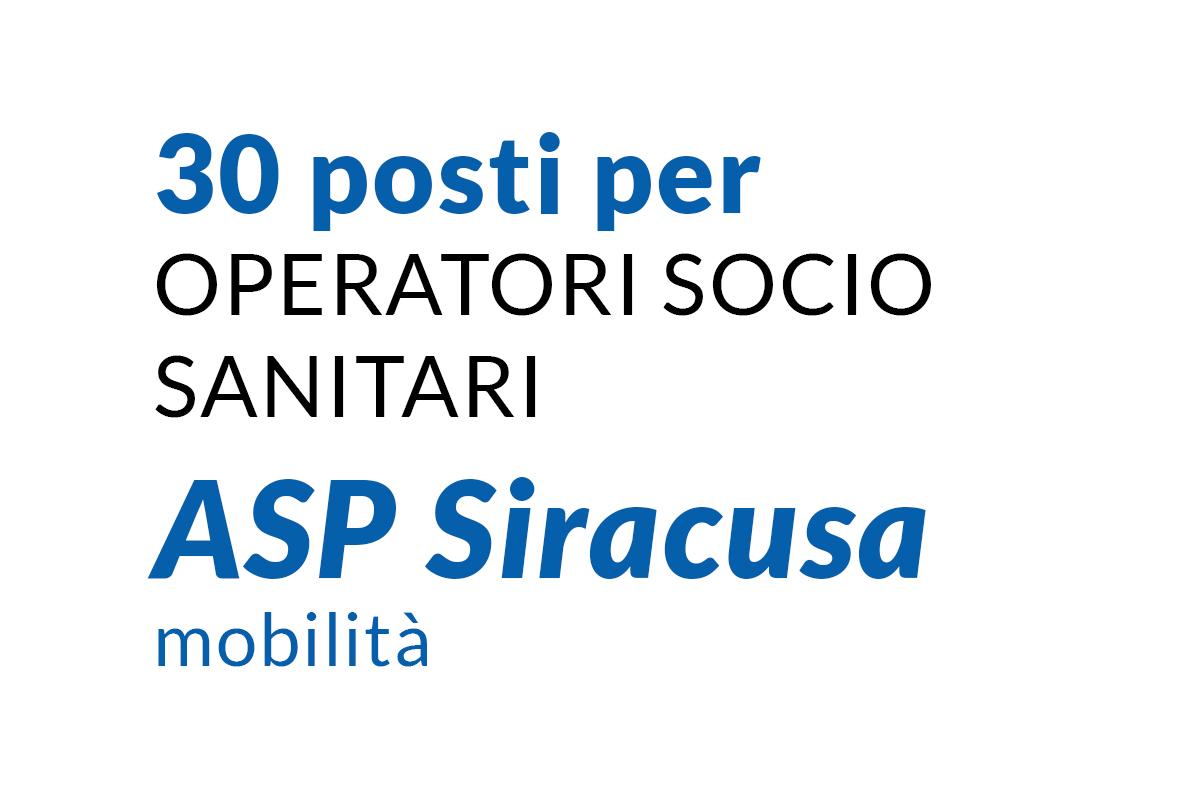 30 posti per OSS ASP Siracusa mobilità