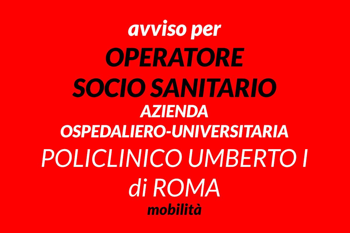 OSS avviso UMBERTO I DI ROMA 2019