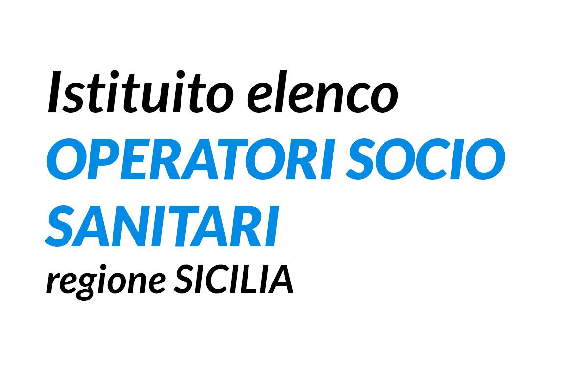 Regione SICILIA istituito elenco OPERATORI SOCIO SANITARI