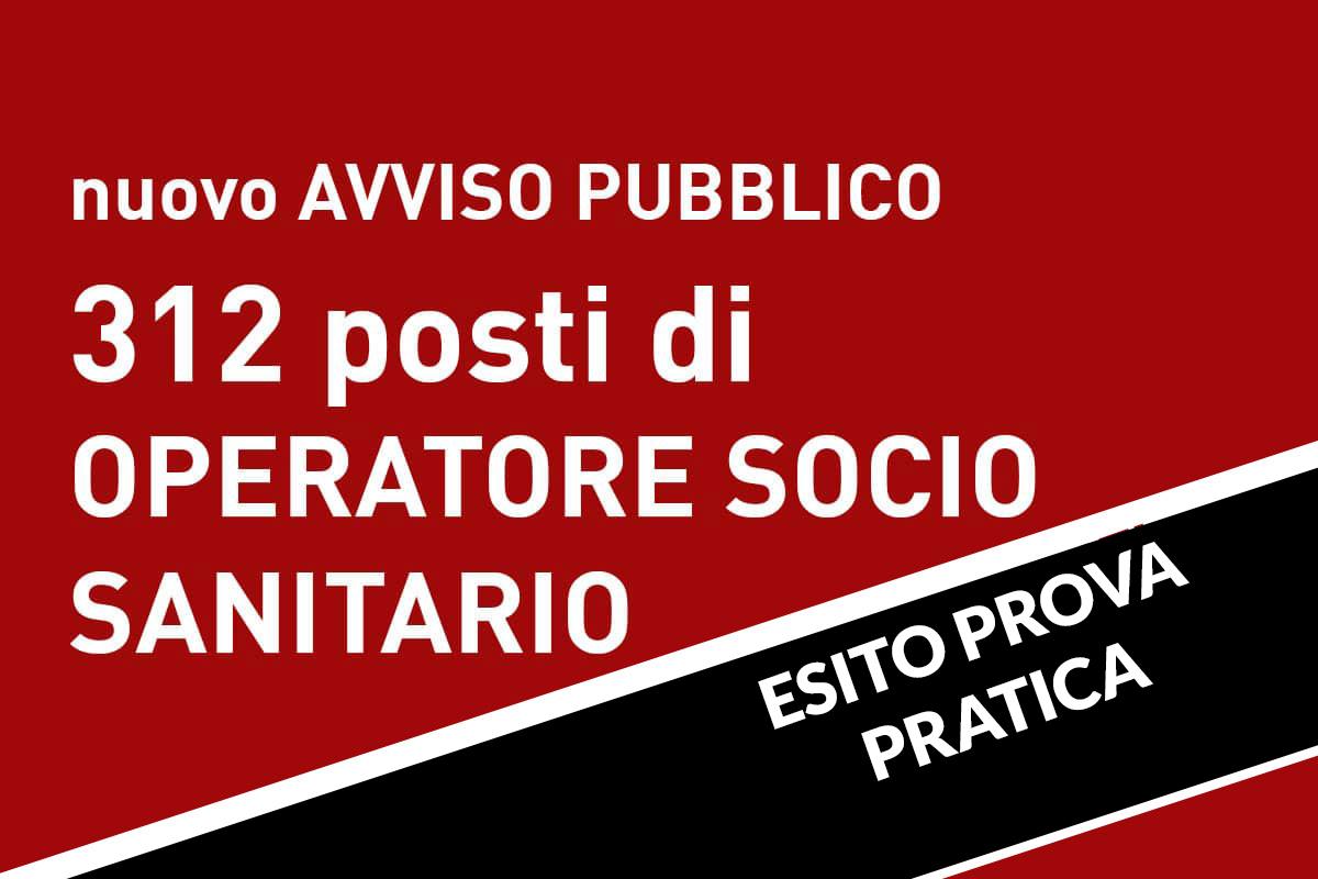312 posti di OSS Avviso pubblico VENETO ESITO PROVA PRATICA