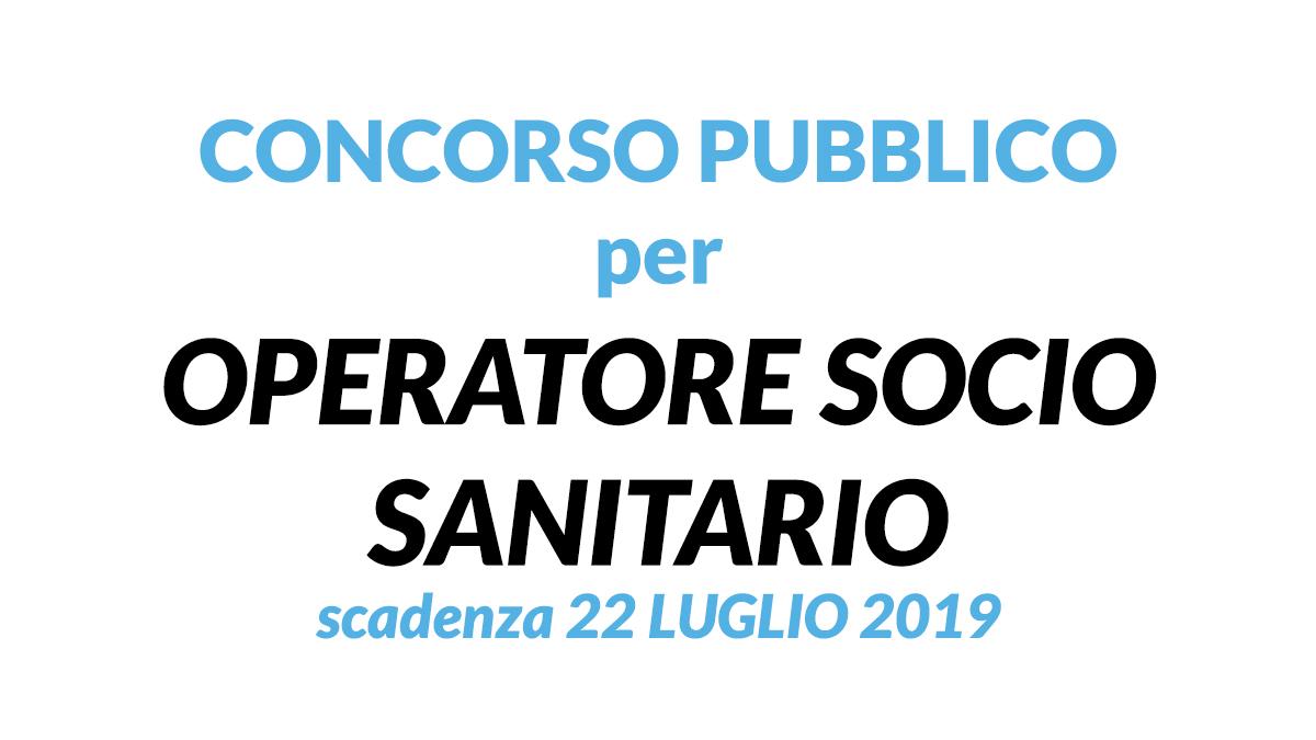 OSS concorso pubblico GUASTALLA 2019