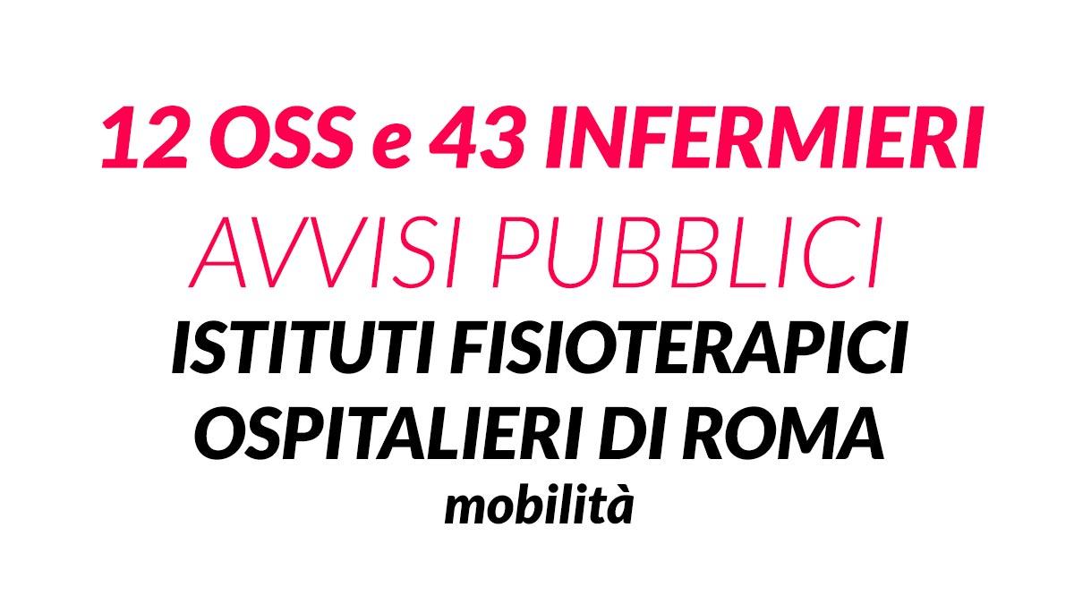 12 OSS e 43 INFERMIERI roma mobilità 2019