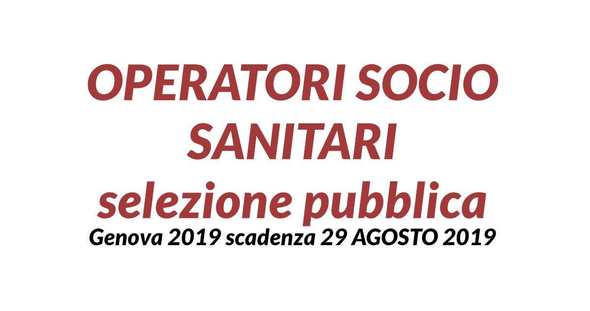 OSS selezione pubblica Genova 2019