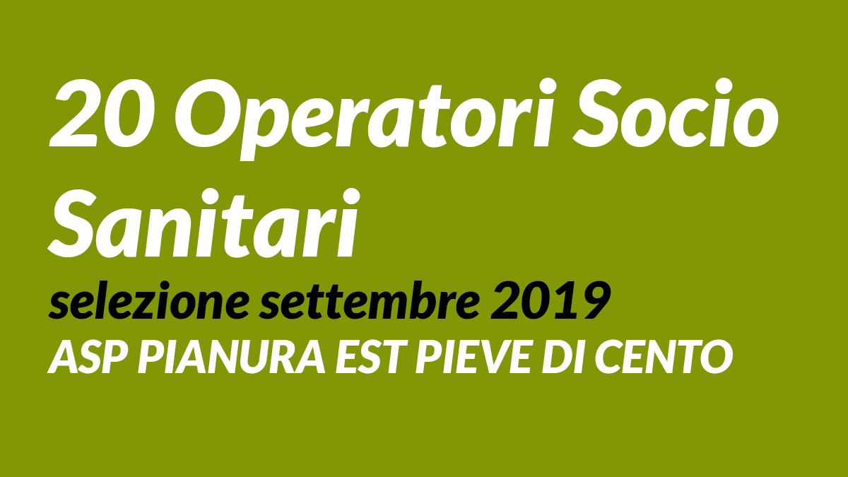 20 OSS selezione settembre 2019