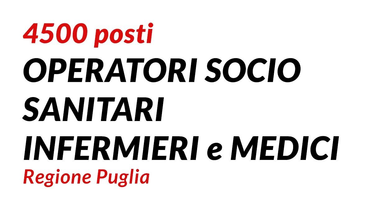 4500 posti OSS INFERMIERI e MEDICI Regione Puglia