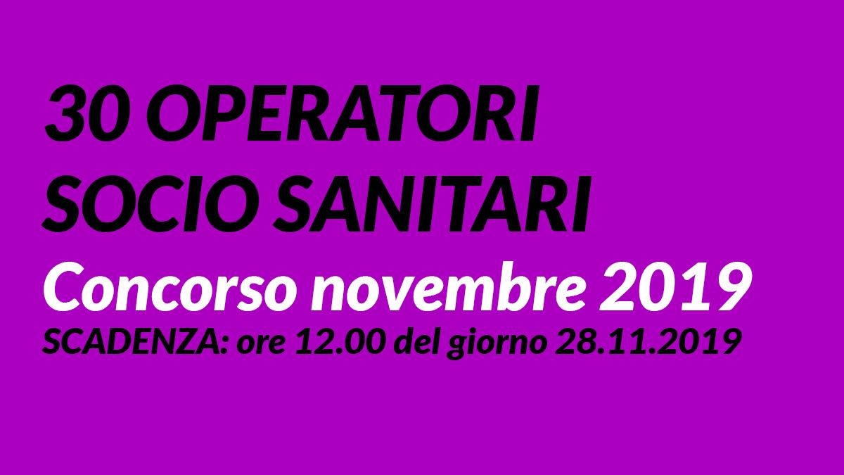30 OSS concorso BOLOGNA novembre 2019