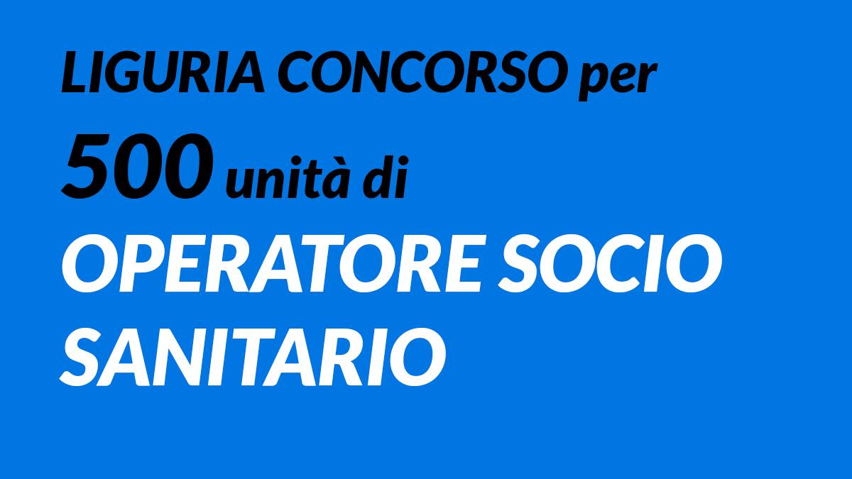 500 OSS concorso Liguria 2019