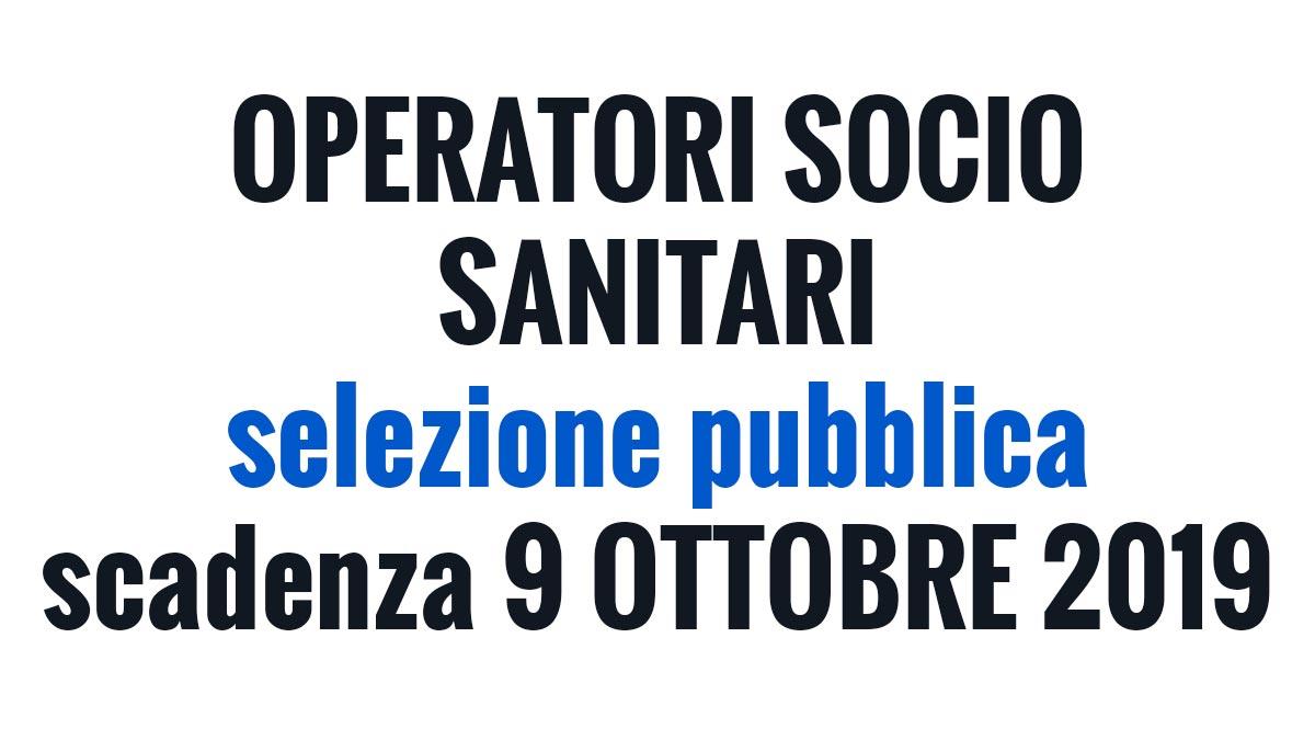 OSS selezione pubblica OTTOBRE 2019 Verona
