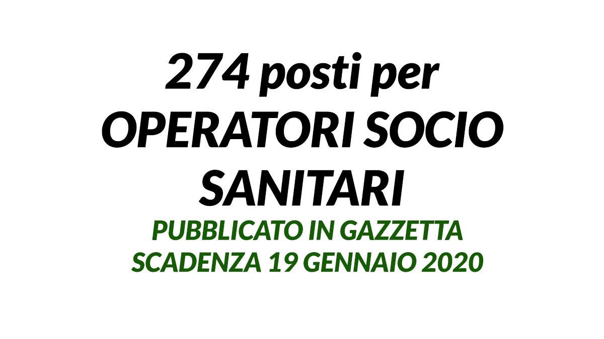 274 OSS concorso LIGURIA pubblicato in gazzetta