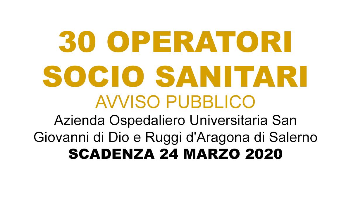 30 OSS avviso Salerno COVID-19