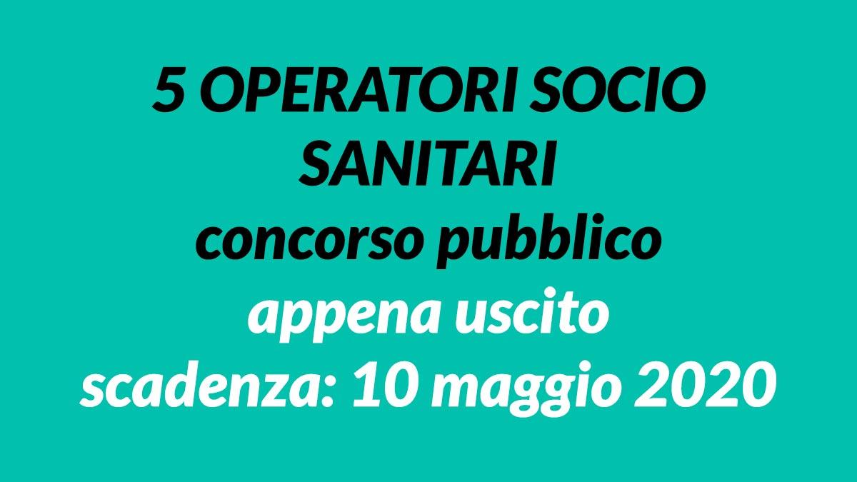 5 OSS concorso pubblico PAVIA
