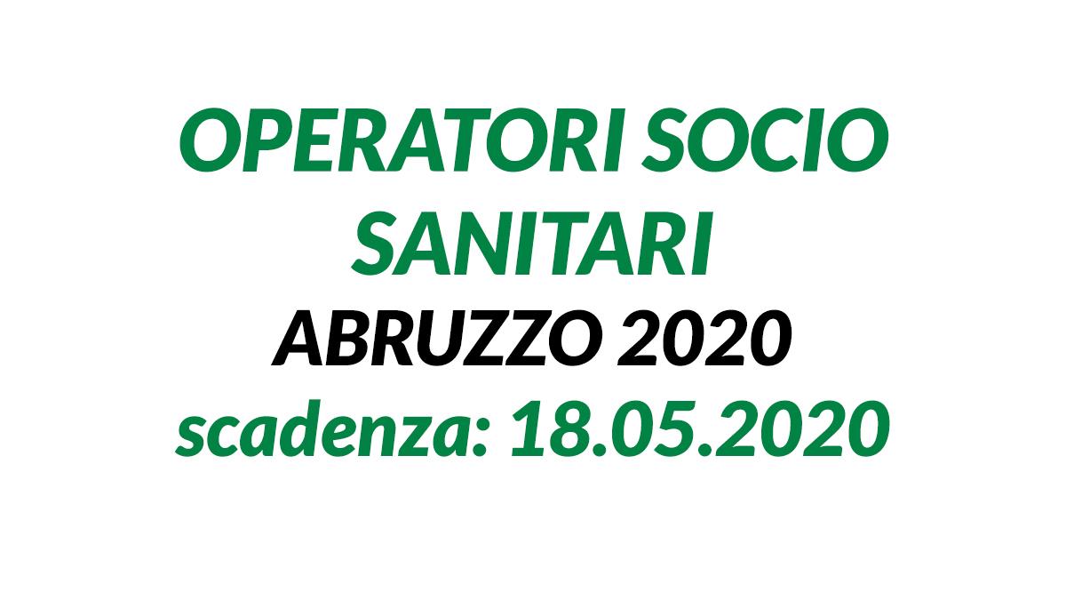 OSS concorso Abruzzo maggio 2020
