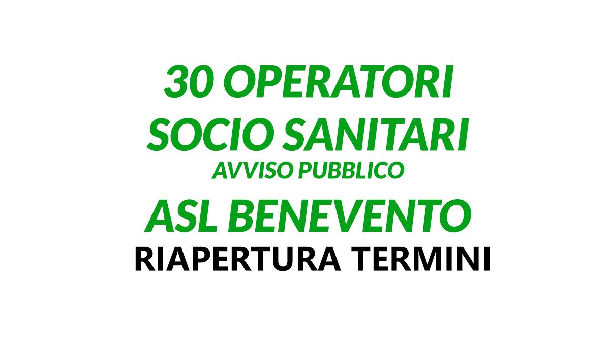 30 OSS ASL BENEVENTO luglio 2020 riapertura termini