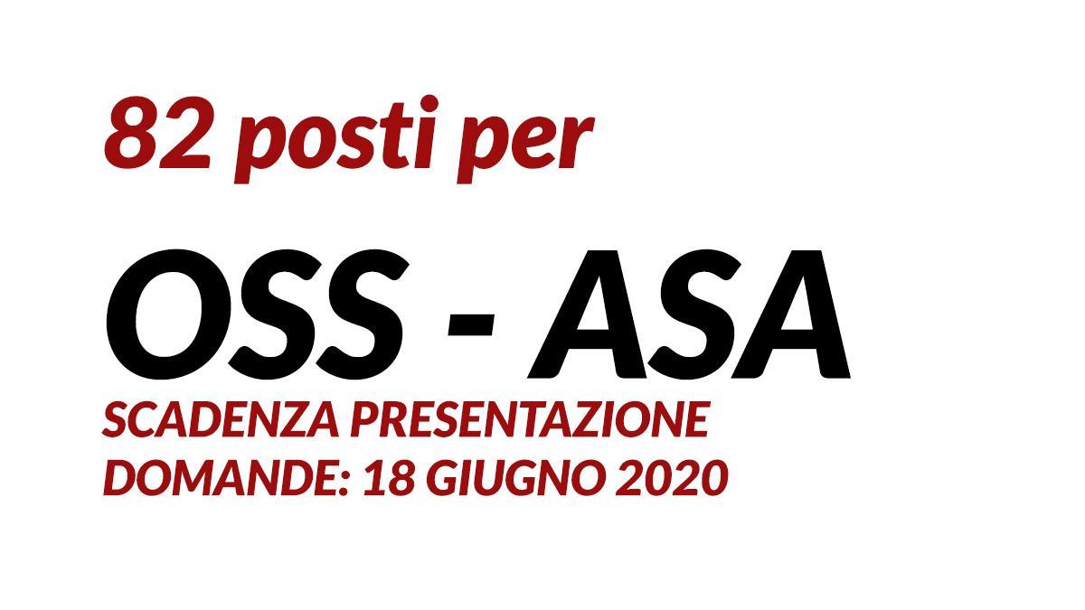 82 posti per OSS - ASA maggio 2020