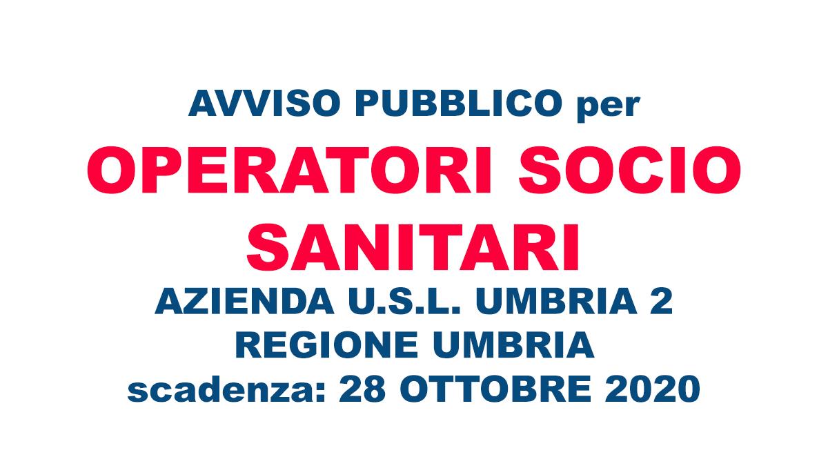 OSS bando Umbria 2020