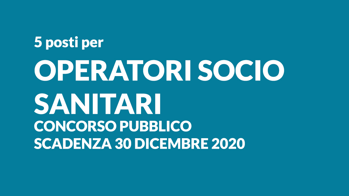 5 OSS concorso pubblico Trentino