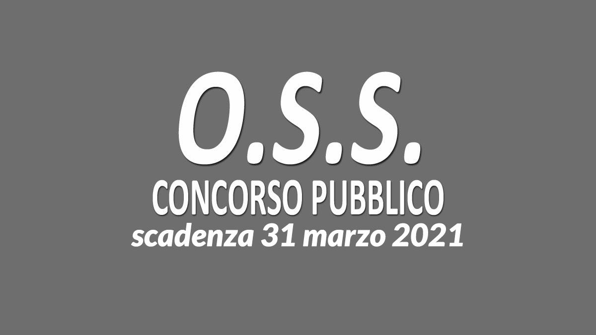OSS concorso tempo indeterminato 2021 Veneto