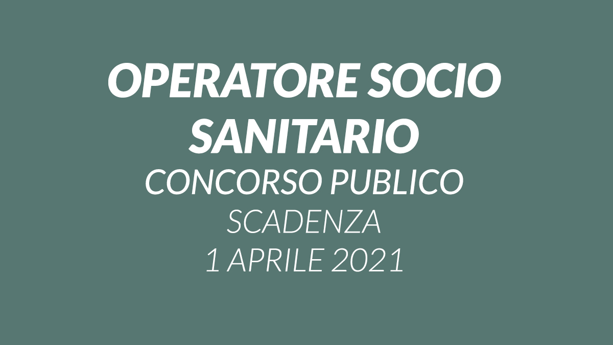 OSS tempo indeterminato concorso pubblico 2021 CTO