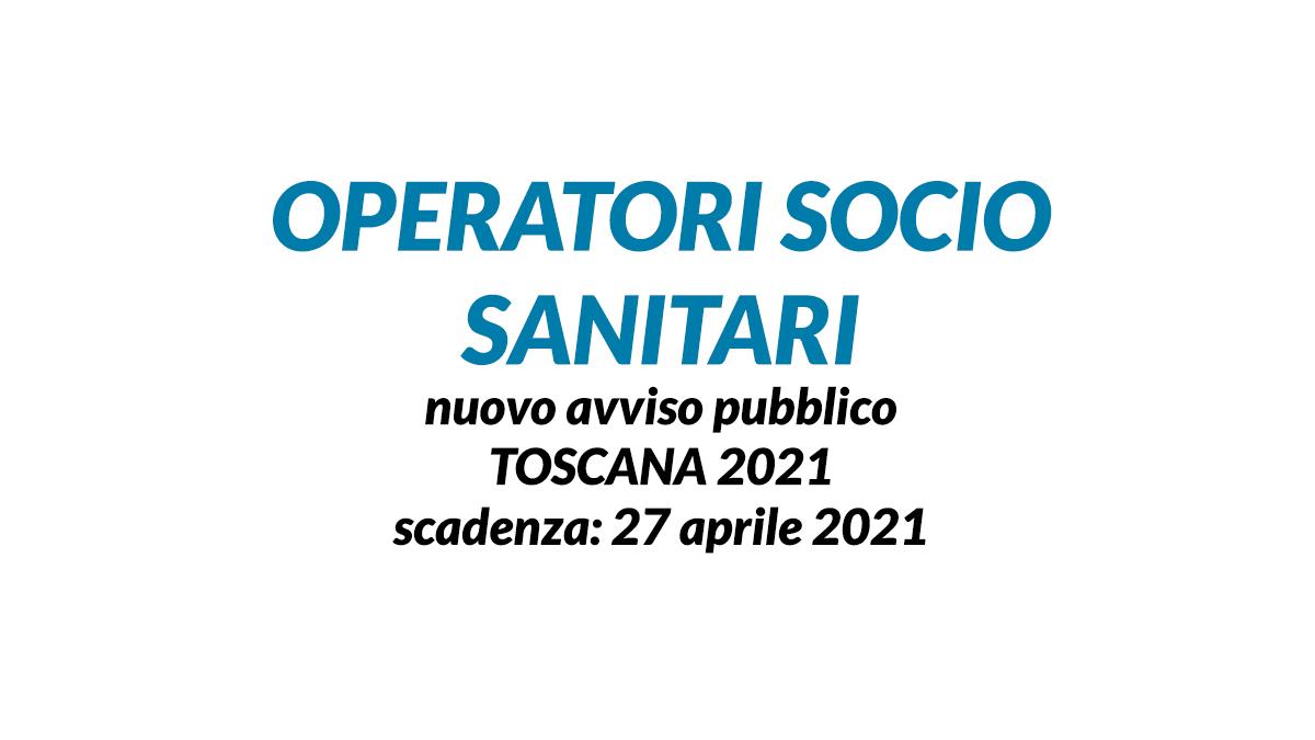 OSS avviso pubblico TOSCANA 2021