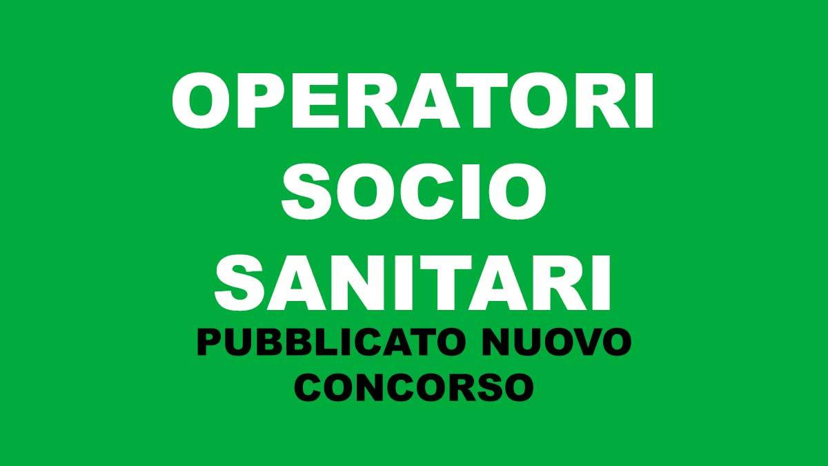 OPERATORI SOCIO SANITARI concorso pubblicato sul BUR